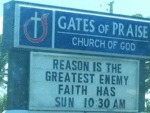 Reason Is The Greatest Enemy Faith Has...