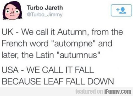 Uk - We Call It Autumn, From The French Word...