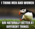 I Think Men And Women...