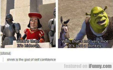 Shrek Is The God Of Self-confidence