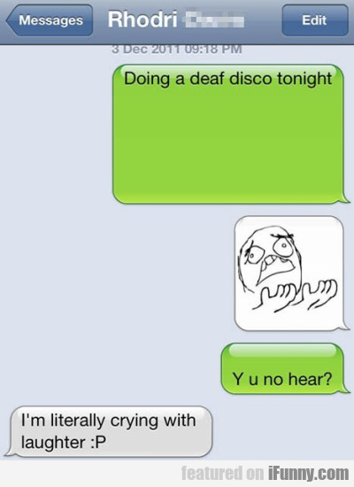 Doing A Deaf Disco Tonight
