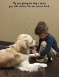 My Son Giving His Dog