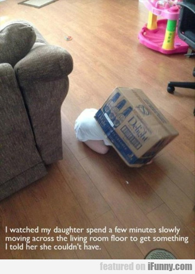 I Watched My Daughter Spend A Few Minutes Slowly..