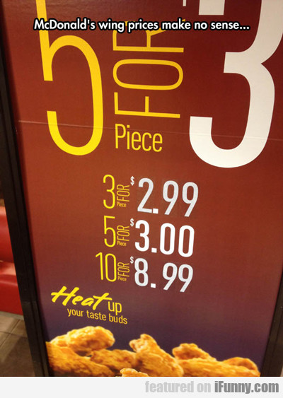 Mcdonald's Wing Prices Make No Sense...