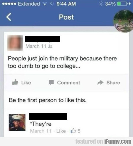 people just join the military