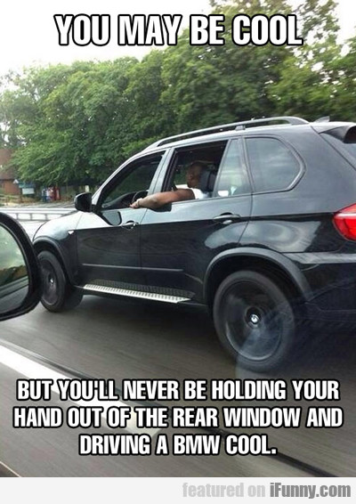 you may be cool, but you will never be holding...