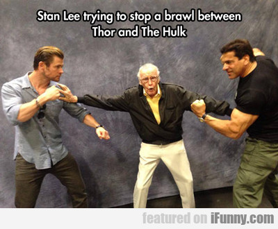 Stan Lee Trying To Stop A Brawl Between...