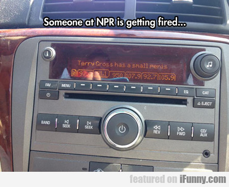 Someone At Npr Is Getting Fired...