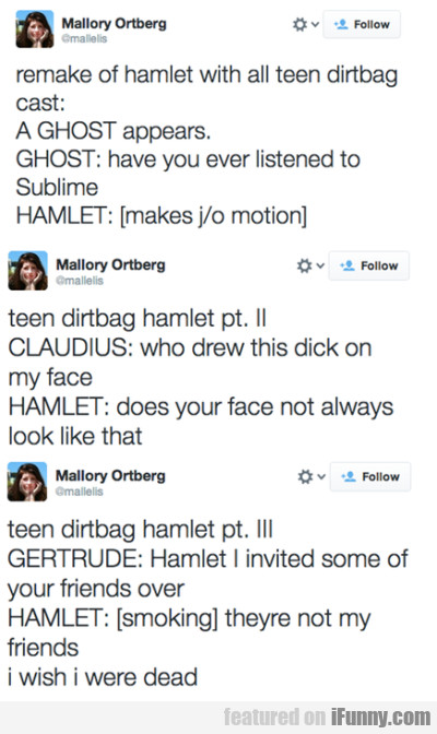 Remake Of Hamlet With All Teen Dirtbag
