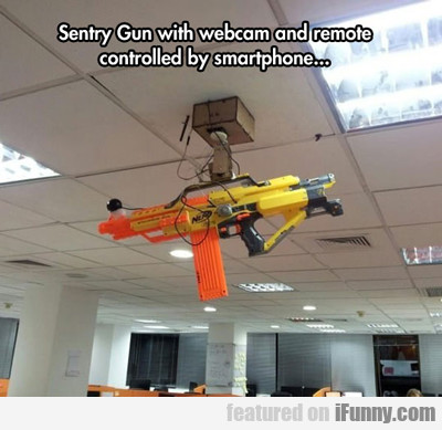 Sentry Gun With Webcam And Remote Controlled...