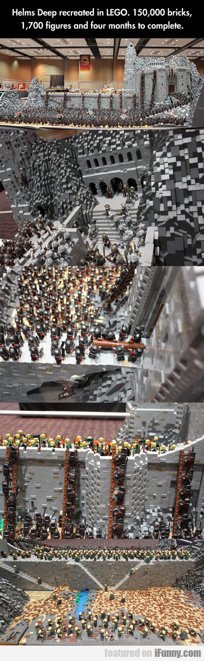 Helm's Deep Recreated In Lego...