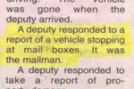 A Deputy Responded To A Report Of...