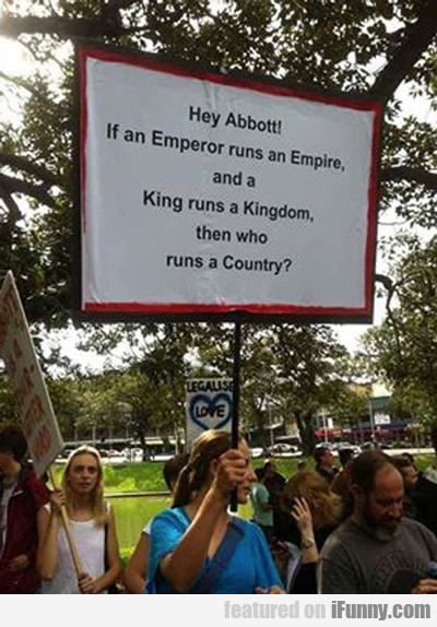 hey abbott! if an emperer runs an empire...