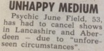 Unhappy Medium. Psychic June Field...