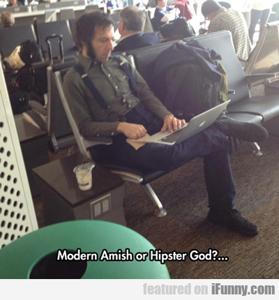 Modern Amish Or Hipster God?