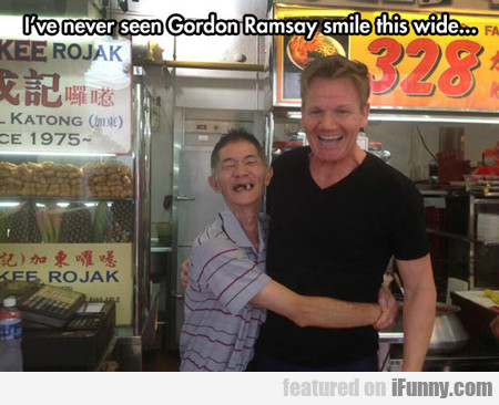 I've Never Seen Gordon Ramsay Smile This Wide...