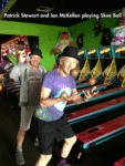 Patrick Stewart And Ian Mckellen Playing Skeeball