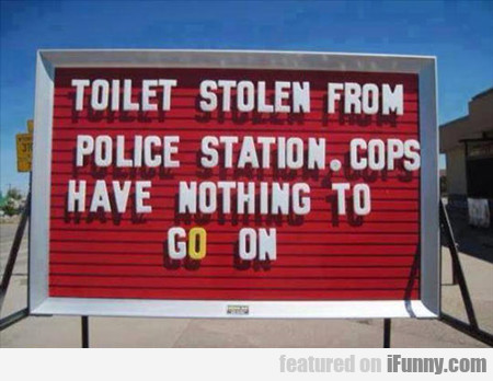 Toilet Stolen From Police Station...