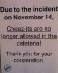 Due To Incident On November 14, Cheez-its Are No..
