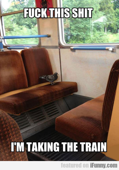 Fuck This Shit, I'm Taking The Train...