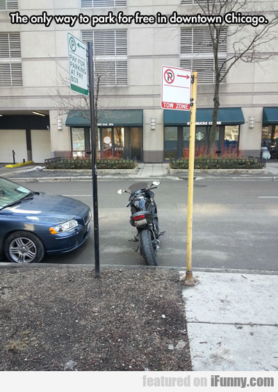 The Only Way To Park For Free In Downtown...