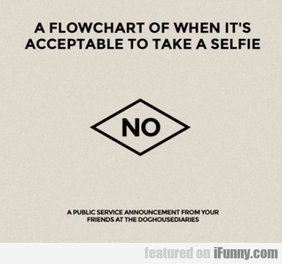 A Flowchart Off When It's Acceptable To Take A..