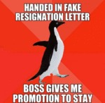 Handed In Fake Resignation Letter...