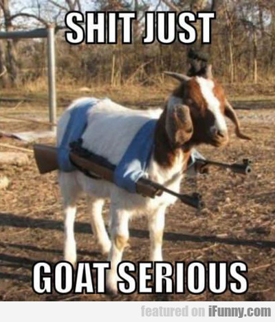 Shit Just Goat Serious....