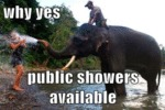 Why Yes, Public Showers Available