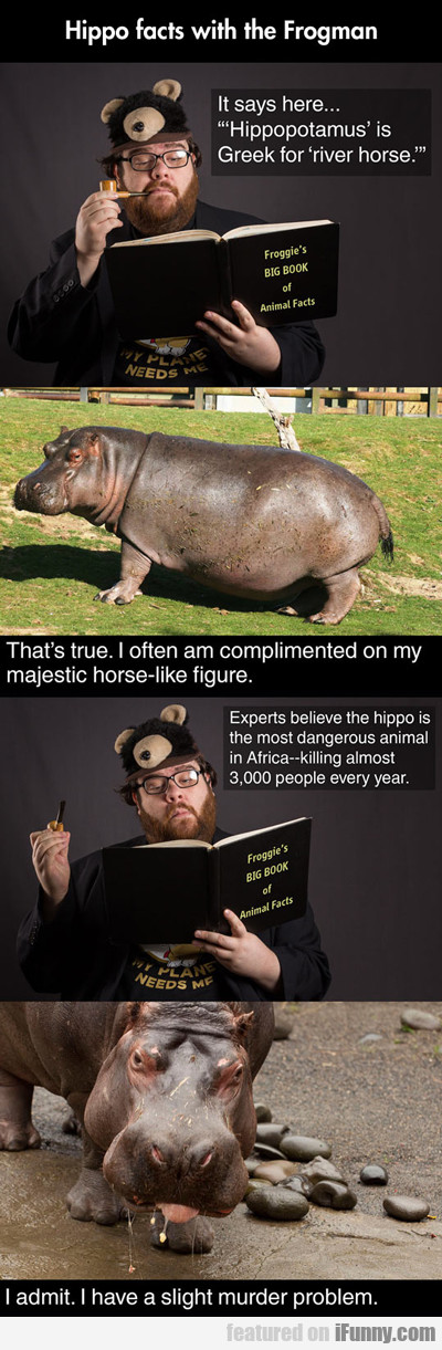 Hippo Facts With The Frogman...