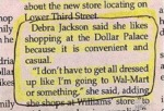 Debra Jackson Said She Likes Shopping At...