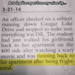 Actual Police Report From My University..