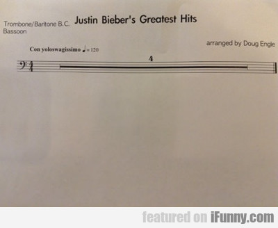 Justin Bieber's Greatest Hits...