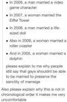 In 2009, A Man Married A Video Game Character...