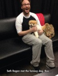 Seth Rogan Met The Famous Dog, Boo...