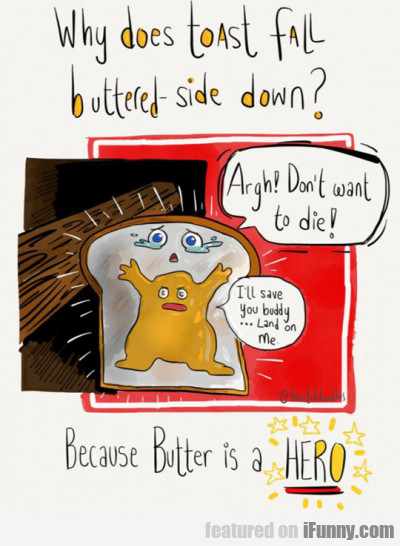Why Does Toast Fall Butter-side Down?