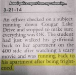 Actual Police Report From My University...