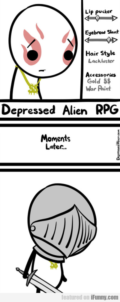 Depressed Alien Rpg. Moments Later...