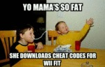 Yo Mama's So Fat She Downloads Cheat Codes...