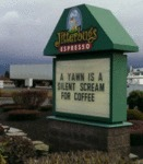 A Yawn Is A Silent Scream For Coffee...