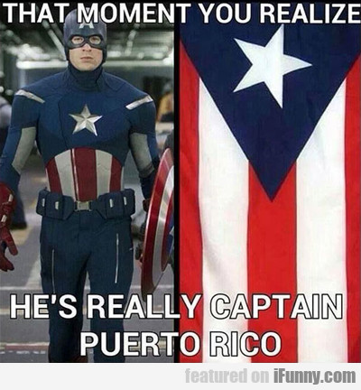 that moment you realize he's actually captain...