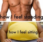 How I Feel Standing Vs How I Feel Sitting...