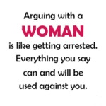 Arguing With A Woman Is Like Getting Arrested...