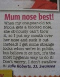 Mum Nose Best...