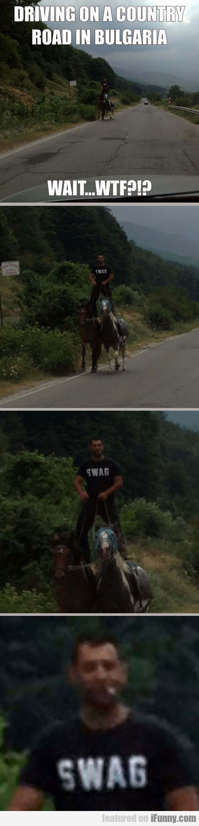 Driving On A Country Road In Bulgaria...