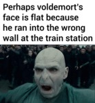 Perhaps Voldemort's Face If Flat Because...