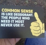 Common Sense Is Like Deodorant. The People Who..