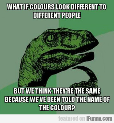 what if colors look different to different people?