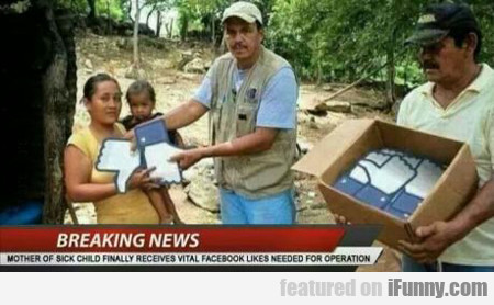 Breaking News: Mother Of Sick Child Finally...