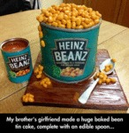 My Brother's Girlfriend Made A Huge Baked Bean...